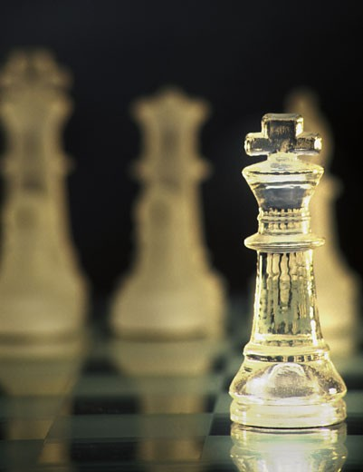 Stock Photo: 1889R-18671 A king in chess