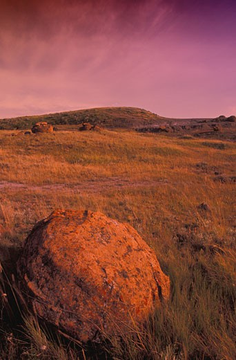 Red Rock Coulee, Saskatchewan, Canada : Stock Photo