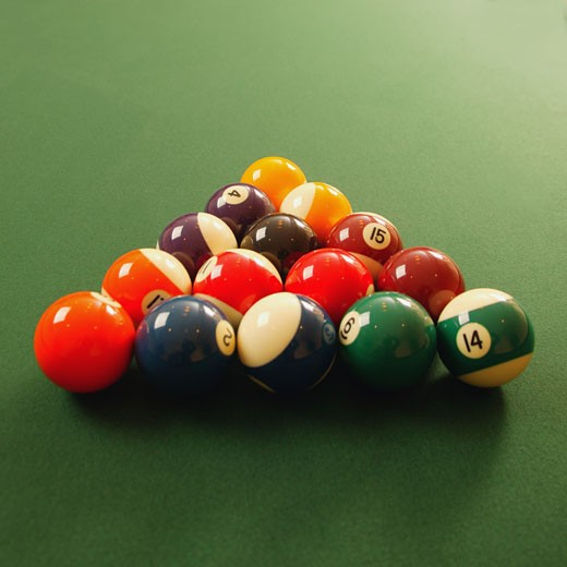 A fresh game of pool : Stock Photo