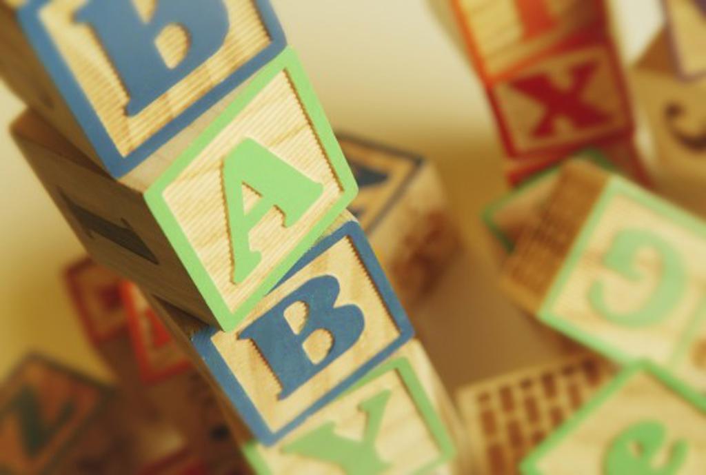 Baby toy blocks : Stock Photo