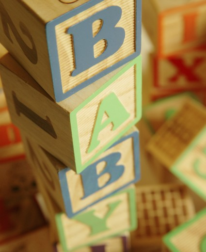 Stock Photo: 1889R-19228 Wooden toy blocks