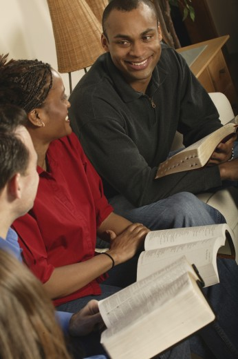 Stock Photo: 1889R-19261 Group Bible study