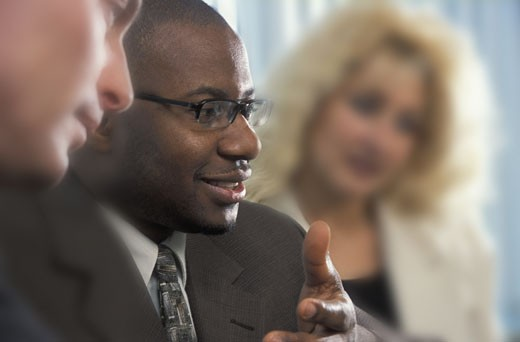 Man in a meeting : Stock Photo