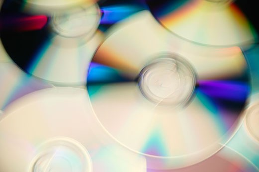 A collage of CDs : Stock Photo