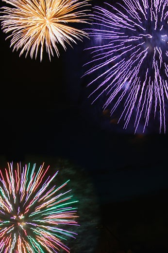Bright fireworks : Stock Photo