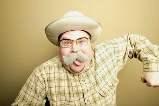 Man with moustache : Stock Photo