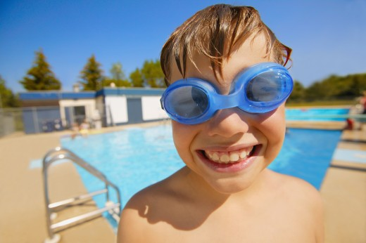 Stock Photo: 1889R-21588 Child with goggles