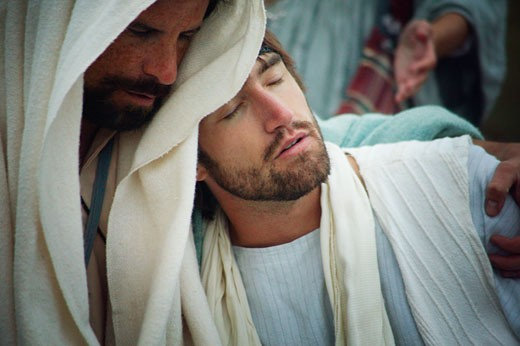 Jesus comforts : Stock Photo