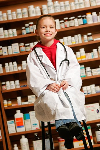 Child pharmacist : Stock Photo
