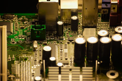Stock Photo: 1889R-22728 Close-up computer chips