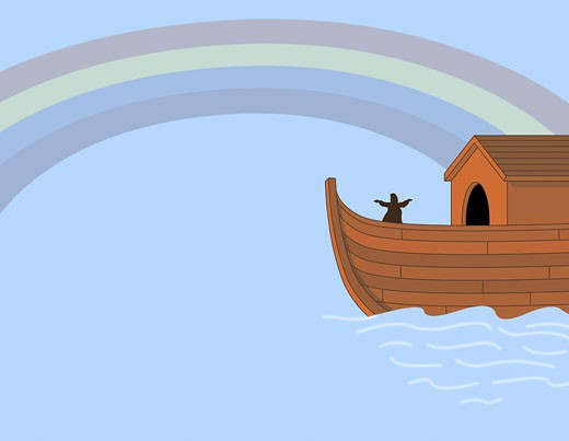 Noah's Ark Illustration : Stock Photo