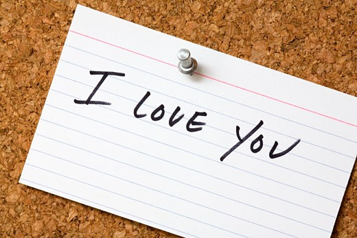 Love note : Stock Photo