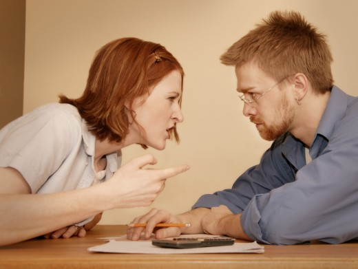 Stock Photo: 1889R-2488 Couple involved in disagreement