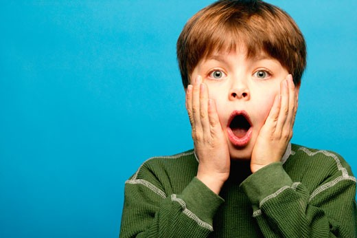 Stock Photo: 1889R-2510 Surprised child