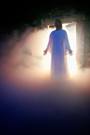 Stock Photo: 1889R-28010 Jesus coming out of the tomb