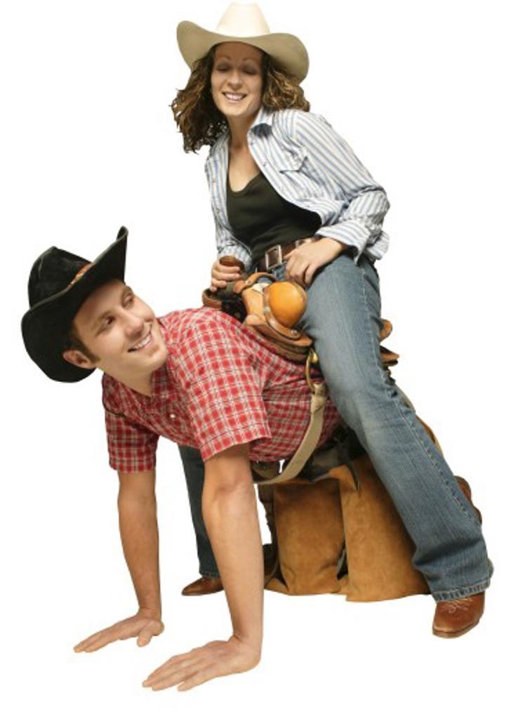 Stock Photo: 1889R-28073 Couple wearing western clothing