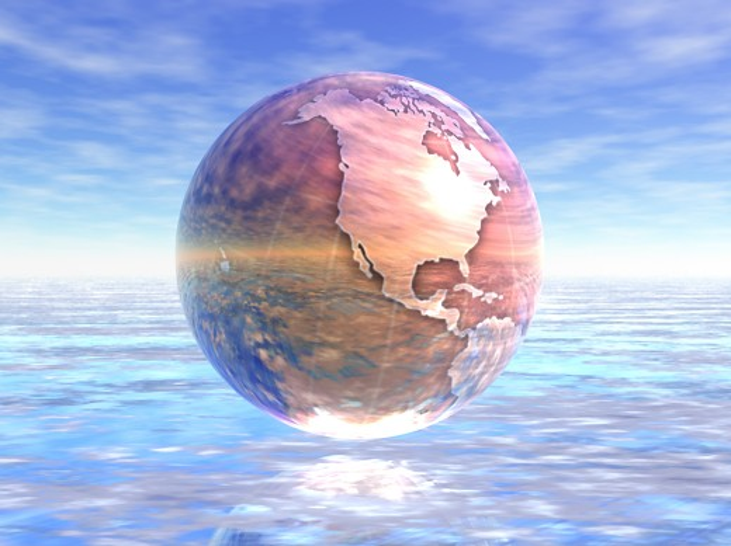 Stock Photo: 1889R-28276 3D Globe