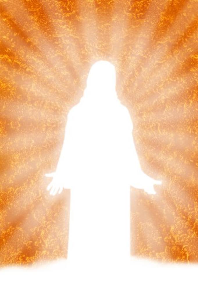 Stock Photo: 1889R-28355 Silhouette of Jesus