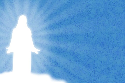 Silhouette of Jesus : Stock Photo