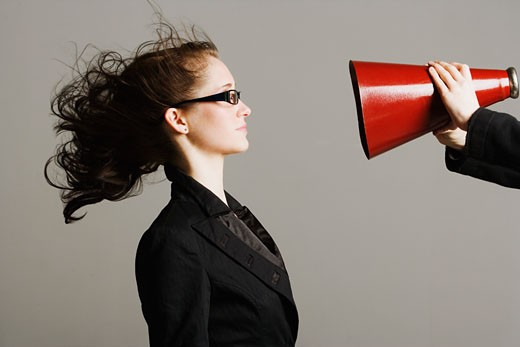Stock Photo: 1889R-28835 Woman being yelled at