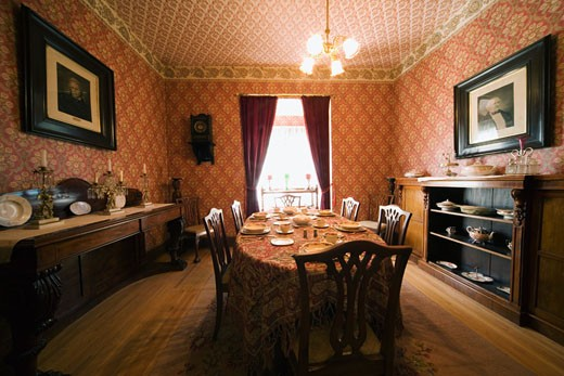 Stock Photo: 1889R-29311 Dining Room