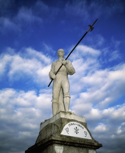 The Pikeman statue in Ballinamuck, County Longford, Ireland : Stock Photo
