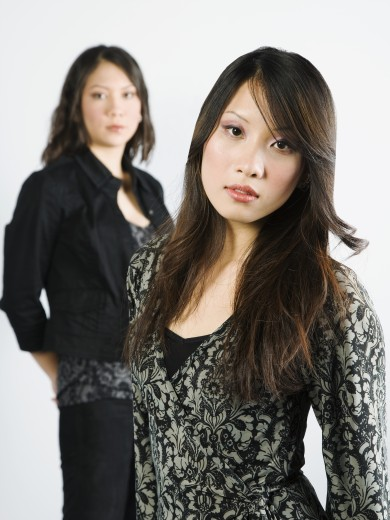 Two young adult women : Stock Photo