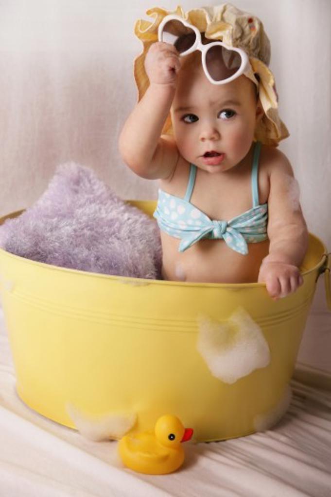 Baby in a bathtub   : Stock Photo