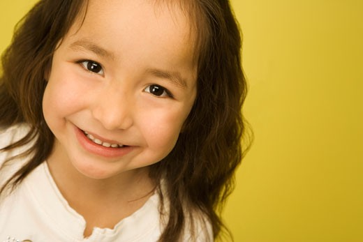 Portrait of little girl smiling : Stock Photo