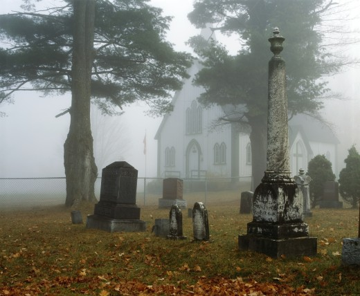 Country cemetery : Stock Photo