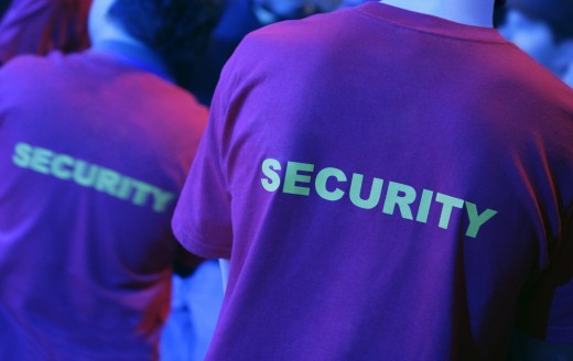 Stock Photo: 1889R-3065 Security guard