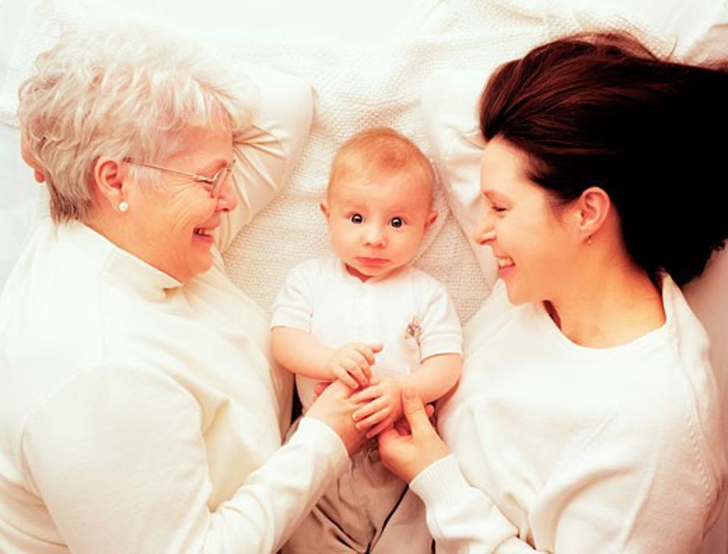 Three generations : Stock Photo