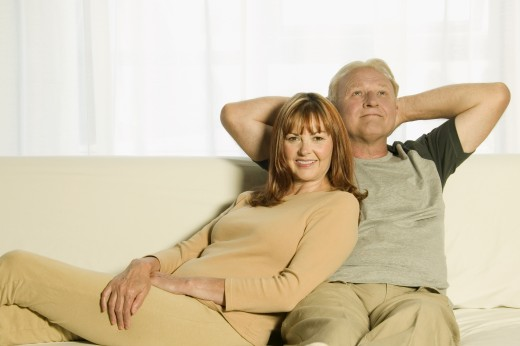 Stock Photo: 1889R-31876 Couple hanging out together