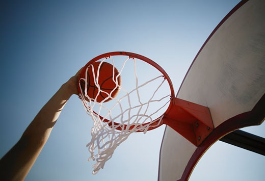 Basketball hoop : Stock Photo