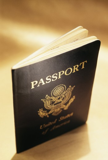 United States passport   : Stock Photo