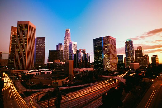 View of downtown Los Angeles, California, USA : Stock Photo