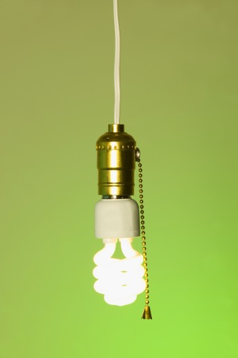 Stock Photo: 1889R-32803 Energy efficient light bulb