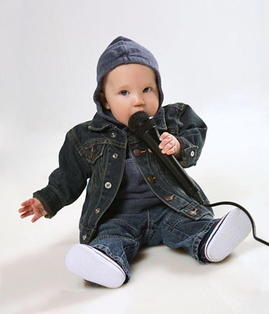 Infant sitting : Stock Photo