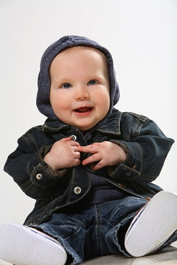 Smiling infant : Stock Photo