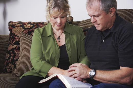 Stock Photo: 1889R-33495 A couple praying