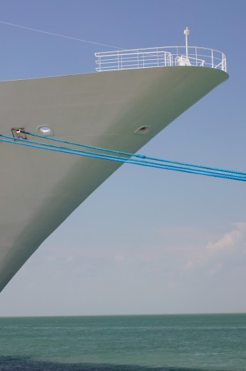 Stock Photo: 1889R-33629 Bow of a ship
