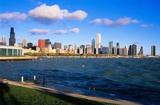 Chicago skyline, Illinois, USA : Stock Photo