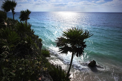Tulum, Mayan Riviera, Caribbean Sea, Mexico : Stock Photo