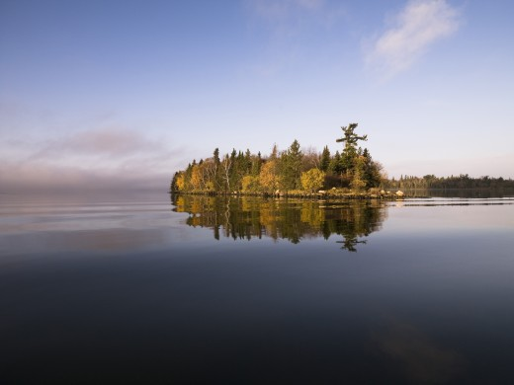 Calm lake water : Stock Photo