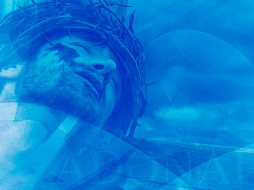 Jesus with crown of thorns : Stock Photo