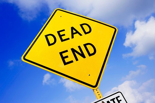 Stock Photo: 1889R-3630 Dead end sign
