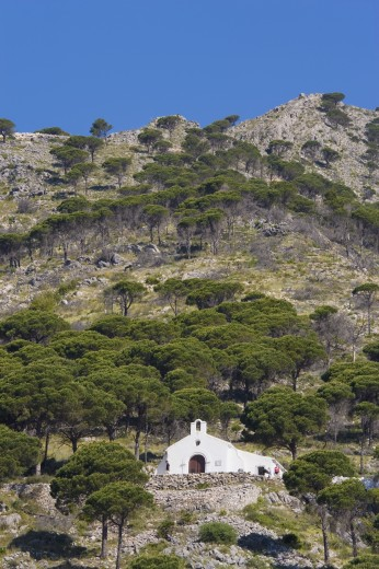 Calvary hermitage, Mijas Malaga Province, Costa del Sol, Spain, Europe : Stock Photo