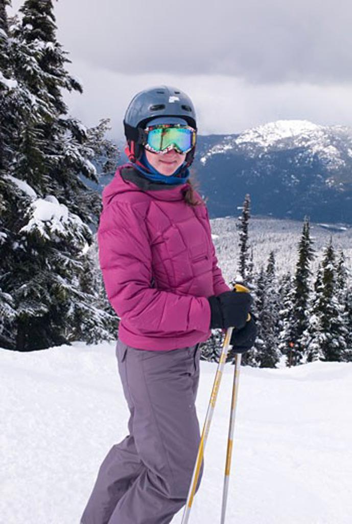 Skier in British Columbia, Canada : Stock Photo