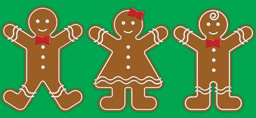 Gingerbread people : Stock Photo