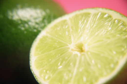 A cut lime : Stock Photo